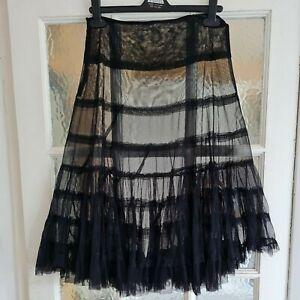Gypsy Steampunk Sheer Net Skirt Size 10/12