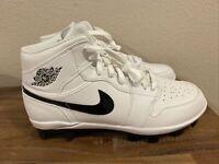 NIKE AIR JORDAN 1 RETRO MCS BASEBALL CLEATS Men's Size 10.5 White AV5364-100