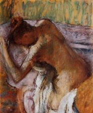 After the Bath by Edgar Degas Nude Art HQ Canvas Print Wall Decor Small 8x10