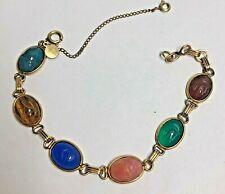 Vintage CC Gold Filled SCARAB Bracelet
