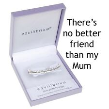"Silver Plated Engraved Bangle Bracelet ""No Better Friend Than My Mum""  Gift"