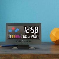 LED-Projektion LCD-Anzeige Digitaler Wecker mit Temperaturwetterstation Q2X7