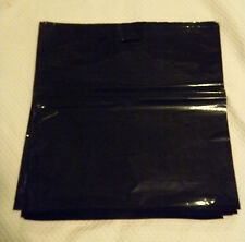 "Glossy Jumbo BLACK Shopping Merchandise Bags 20""x20""x5"" Lot 25"