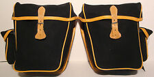 NEW GILLES BERTHOUD PAIR OF SMALL PANNIERS GB799 BLACK MADE IN FRANCE