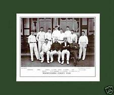 MOUNTED CRICKET TEAM PRINT - WARWICKSHIRE - 1895