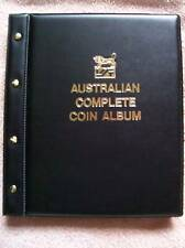 VST AUSTRALIAN COMPLETE COIN ALBUM BLACK COLOUR 1910 to 2016. PRINTED MINTAGES