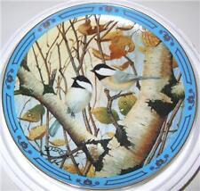 "Derk Hansen Plate ""Black Caps & Tails"" Winged Treasures"