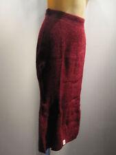 Nos Vintage DeadStock Red Heather Sweater Skirt Preppy Warm Knit Disco Retro 13