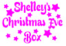 Christmas Eve Box Sticker Personalised Party Decal Gift Vinyl Stars 5