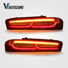 Fits 2016 2018 Chevy Chevrolet Camaro Tail Lights LED Red Lens Right & Left Side