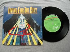 """GILLAN LIVING FOR THE CITY VIRGIN RECORDS UK 7"""" VINYL SINGLE in PICTURE SLEEVE"""