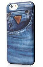 Genuine Guess Denim Collection Jeans 02 TPU Hard Case for iPhone 6 & 6s