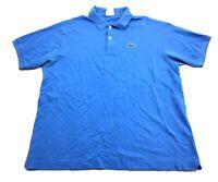 Lacoste Mens Blue Short Sleeve Polo Shirt Size 7