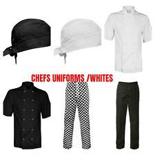 More details for chefs white's trousers, pants, kitchen uniform bottoms chessboard jacket bandana