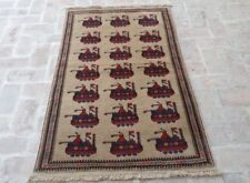 3 x 5 Best quality handmade vintage afghan tribal shindand wool war rug carpet