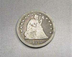 1876-CC Seated Liberty Quarter Coin AK148