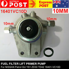 Fuel Filter Lift Primer Pump For NISSAN Patrol GU Y61 ZD30 TD42 16401-VC10D 10mm