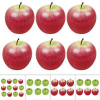 6/12Pc Artificial Apples Lifelike Decor Fake Fruit For Office Kitchen Home Party