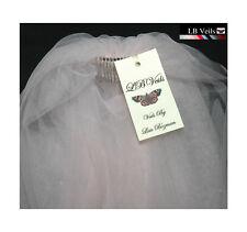 Pink Bouffant Veil Crystal Wedding Any Length Short Sparkle LBV154 LB Veils UK