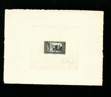Morocco (French) 1948 Sc B36 Communications   Signed Sunken Die Artist Proof