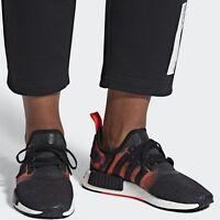 adidas Originals NMD R1 Stencil Black/Solar Men's Comfy Shoes Lifestyle Sneakers