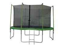 Garten Trampolin 366 cm grün mit Sicherheitsnetz + Leiter Neu JaMaxx