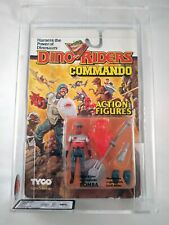 1989 TYCO DINO RIDERS COMMANDO - BOMBA - MOSC UKG GRADED 70 - AFA SEALED FIGURE