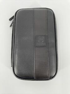 New! FIREDOG Cigar Pouch, Genuine Leather Travel Portable Case Black Brown