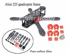 Alien FPV quadcopter frame 225 225mm drone carbon fiber w/ 4mm arm Motor cover