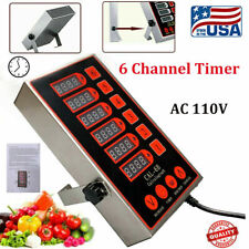Commercial 6 Channels Kitchen Timers Restaurant Timer Loud Alarm Cooking