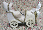 VINTAGE STYLE  XMAS DECOR CHILD IN GO-CART MICA FINISH POSSIBLY 1980's SILVESTRI