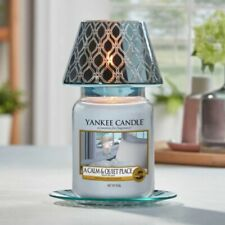 More details for new yankee candle savoy blue large shade tray box included-no candle