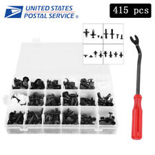 415Pcs Trim Clip Fastener Bumper Set with Remover Tools For Ford Chrysler Toyota