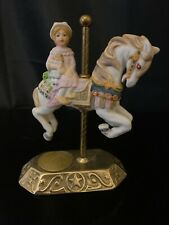Willis Designs Group Ii Carousel Horse Brass & Porcelain #2-429