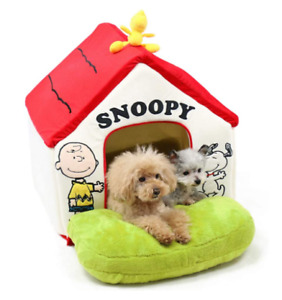 Pet Paradise Snoopy Red Roof House with Garden Large dog houses