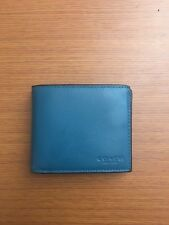 NWOT Authentic Men's Coach 3-In-1 Dark Teal Leather Wallet