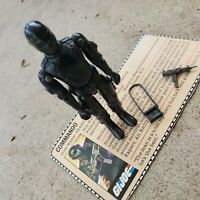 Vintage GI Joe figure 1982 Snake Eyes (straight arms) complete with file card