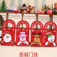 Xmas Tree Santa Claus Snowman Hanging Ornament Christmas Home Party Door Decorat