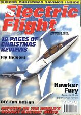 ELECTRIC FLIGHT MAGAZINE 1998 DEC HAWKER FURY, THERMIK STAR, SKAT SPEED 400