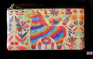 Pretty Abstract Horse Pattern Purse / Wristlet / Clutch Bag. Nice Horsey Gift