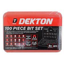 Dekton 100pc seguridad Destornillador Torx Juego De Bit Hex Controlador Integral