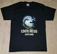 Loch Ness Monster Black T-Shirt Approx Youth Size Large Souvenir Scotland