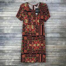 Topshop Maternity Dress New US 4 / UK 8 - Black Red Orange Geo Floral $90