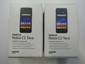 Lot of 2 New Nokia C2 Tava TA-1218 Blue Cricket 32GB Clean IMEI -BT7332 W