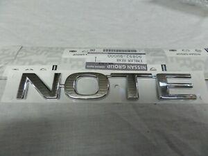 Genuine Nissan Note Rear Badge Emblem Logo 2006 Onwards. 908929U000.