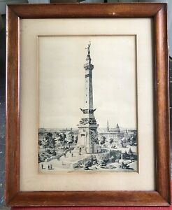 Indiana Soldiers monument Print - Argus Ogborn Collection - From Civil War Vet!!