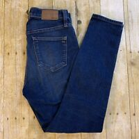 Madewell High Riser 27 Skinny Jeans Hayes Wash F4684