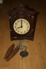 Vintage MAJAK Bakelite Cuckoo Clock USSR 1970's WORKING МАЯК DECO USSR SOVIET