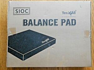 """Yes4All Balance Pad X-Large 19"""" x 15"""" x 2.25"""" – Exercise Foam Cushion (Black)"""