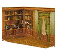Cardboard model kit. Roombox. Parlor. Cabinet. 1/12 scale.